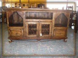 Hacienda TV Console Cabinet Monterrey Rustic Furniture