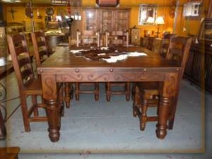 Bombay Counter Dining Table Monterrey Rustic Furniture