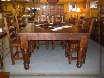 Hacienda Dining Table Monterrey Rustic Furniture