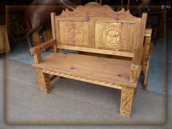Hacienda Bench Monterrey Rustic Furniture