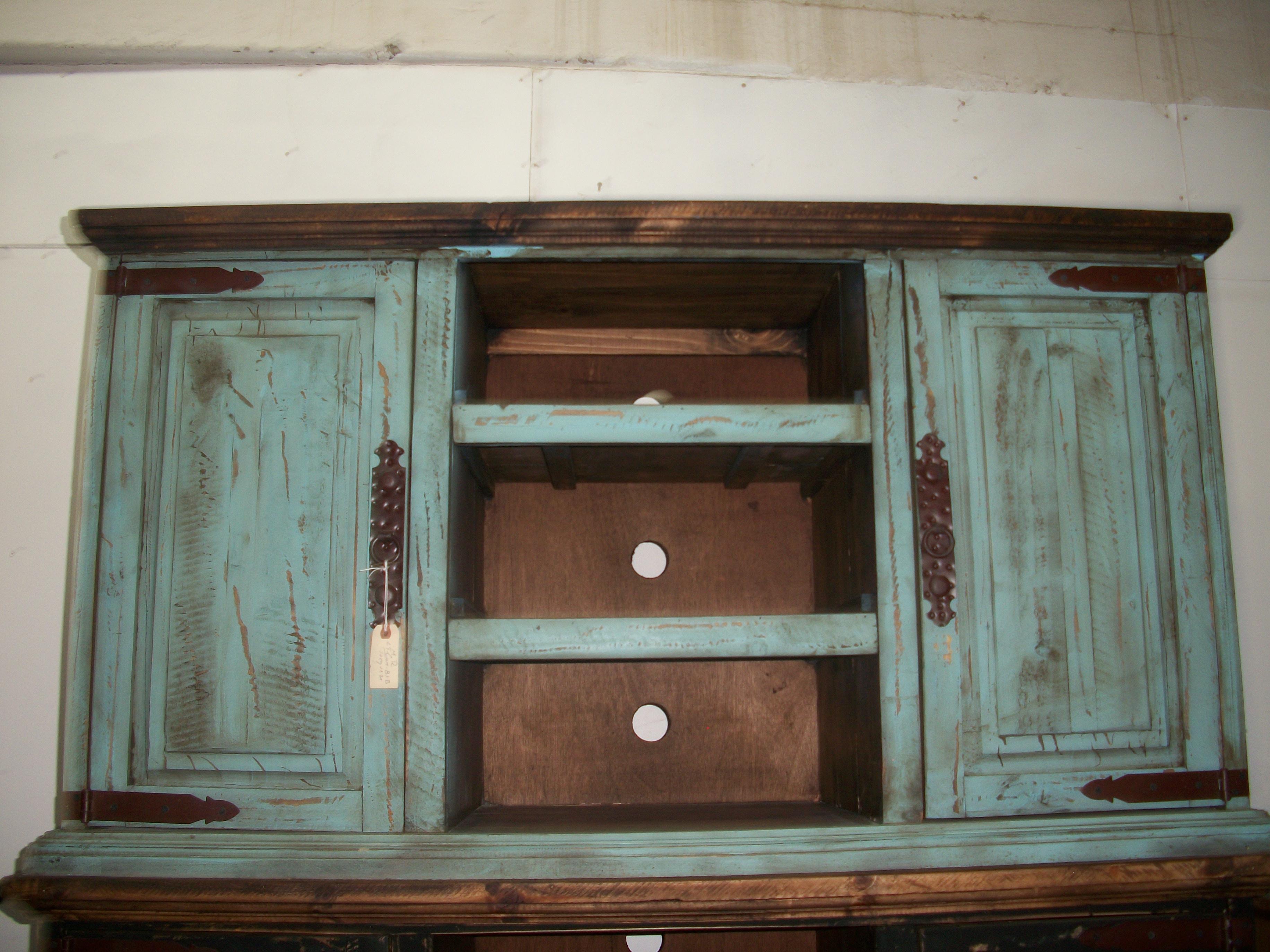 Turquoise 55 Tv Stand Monterrey Rustic Furniture