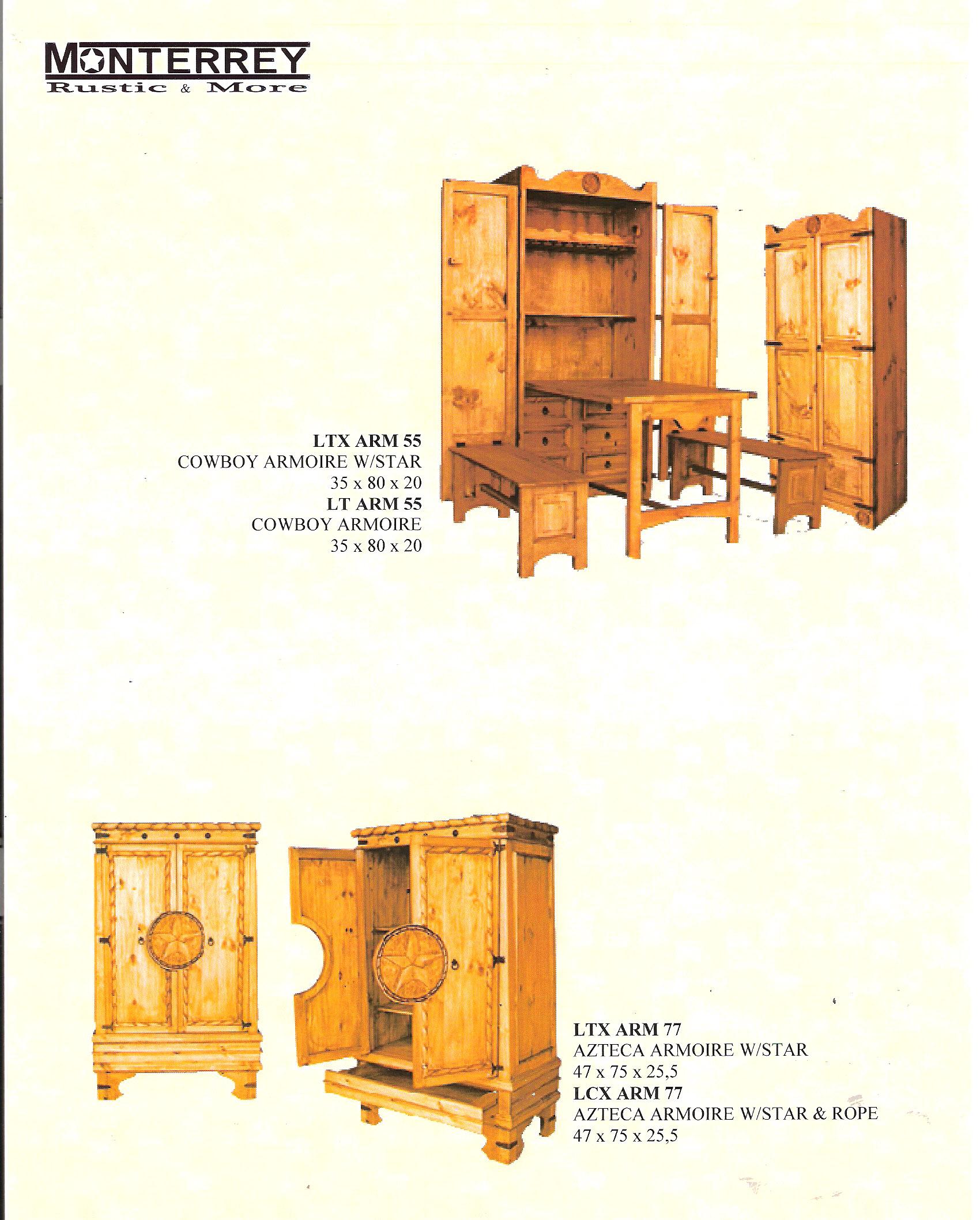 Cowboy Azteca Armoires Monterrey Rustic Furniture