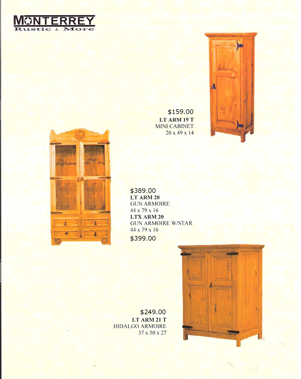 Gun Cabinets Armoires Monterrey Rustic Furniture