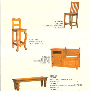 Santa Rita Bar Stools Monterrey Rustic Furniture