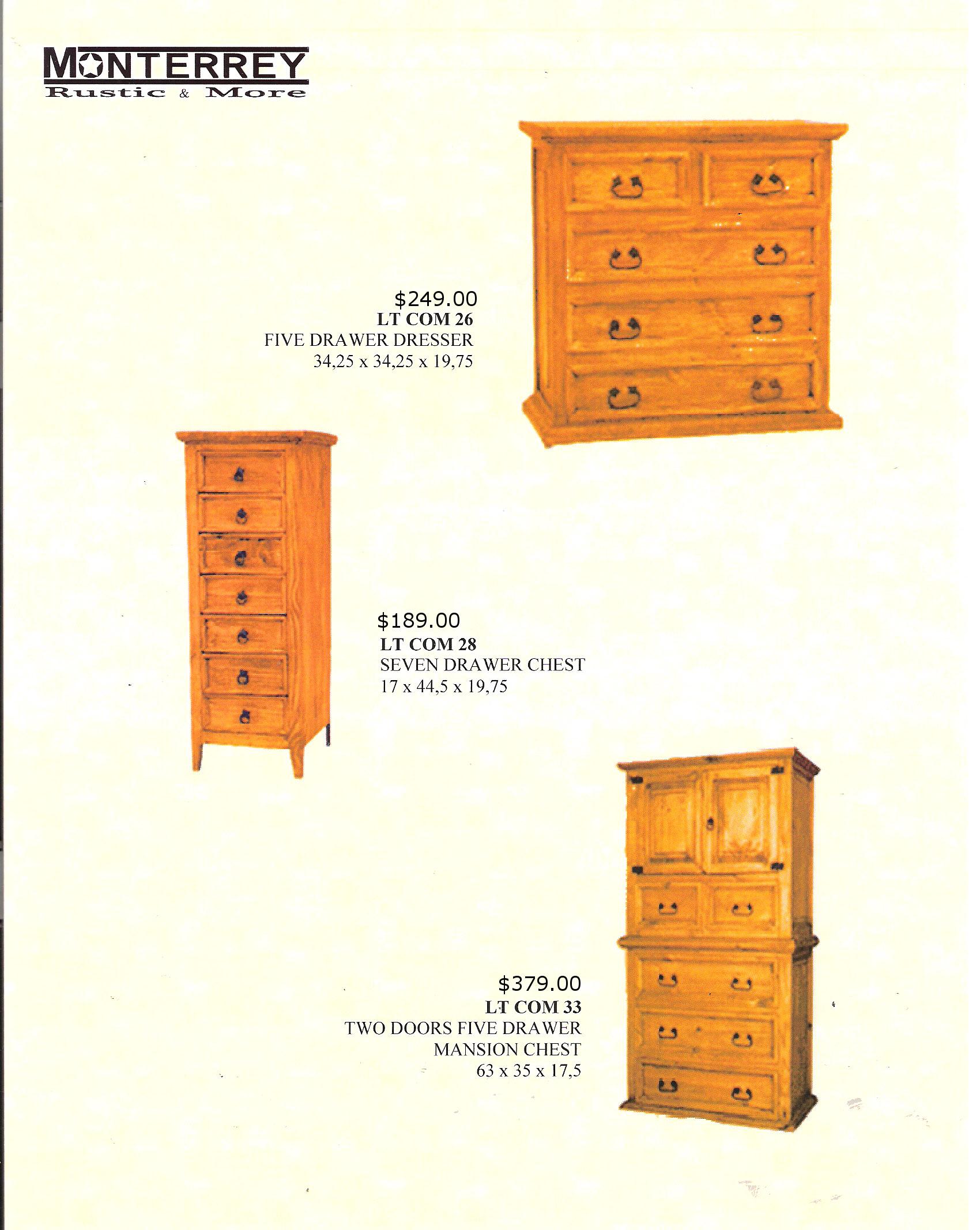 Bedroom Chests Dressers Monterrey Rustic Furniture