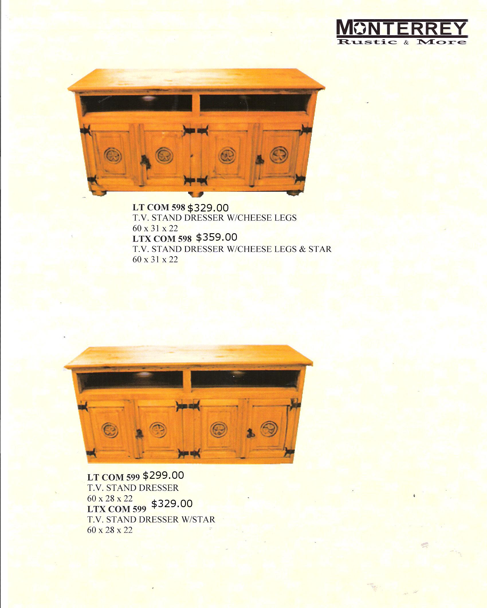 Tv Stand Dressers Monterrey Rustic Furniture