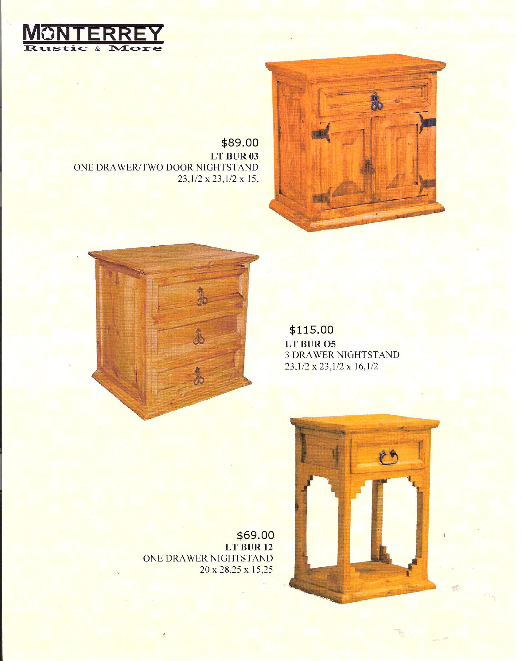 Nightstands Monterrey Rustic Furniture