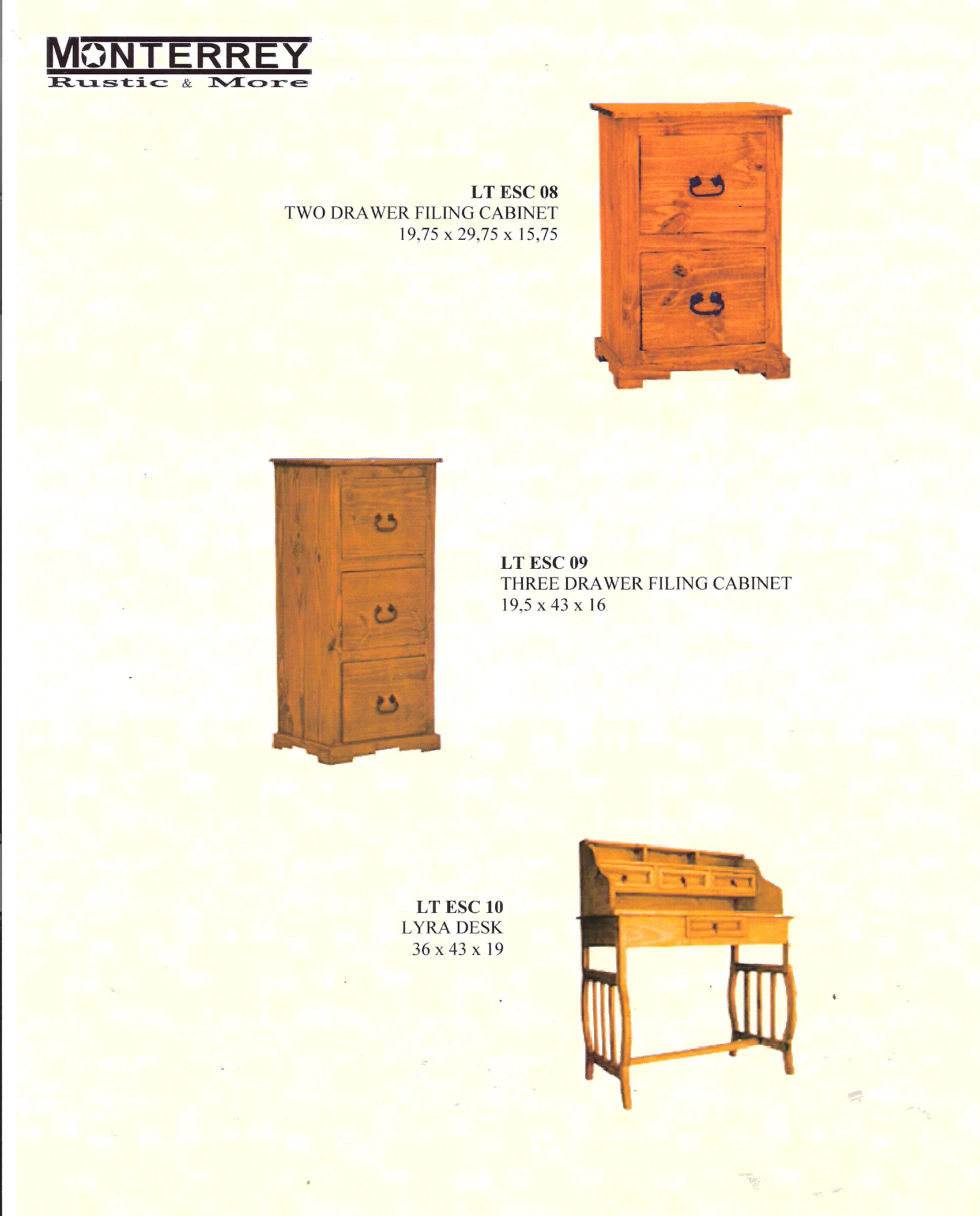 Office Filing Cabinets Monterrey Rustic Furniture