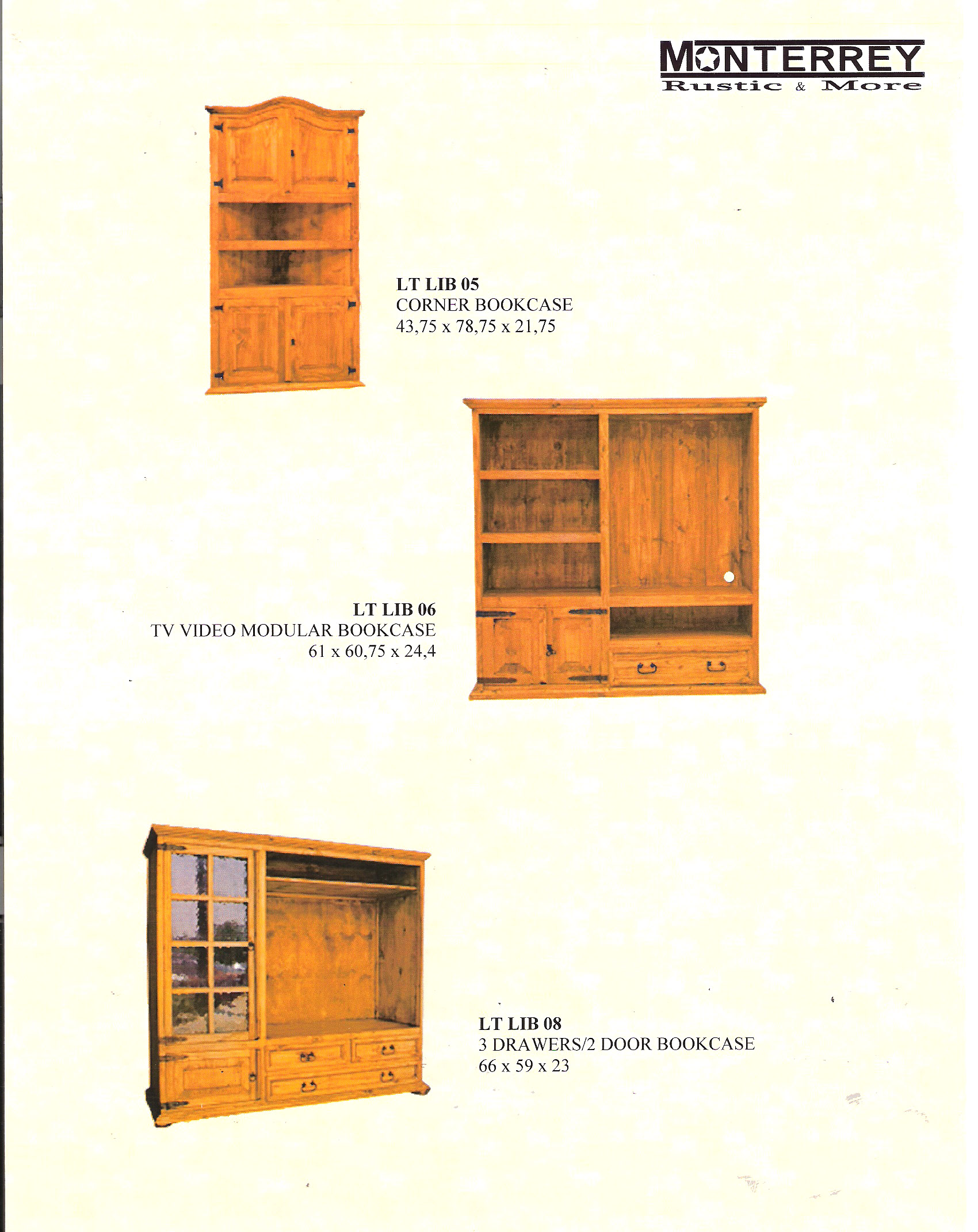 Bookcase Monterrey Rustic Furniture