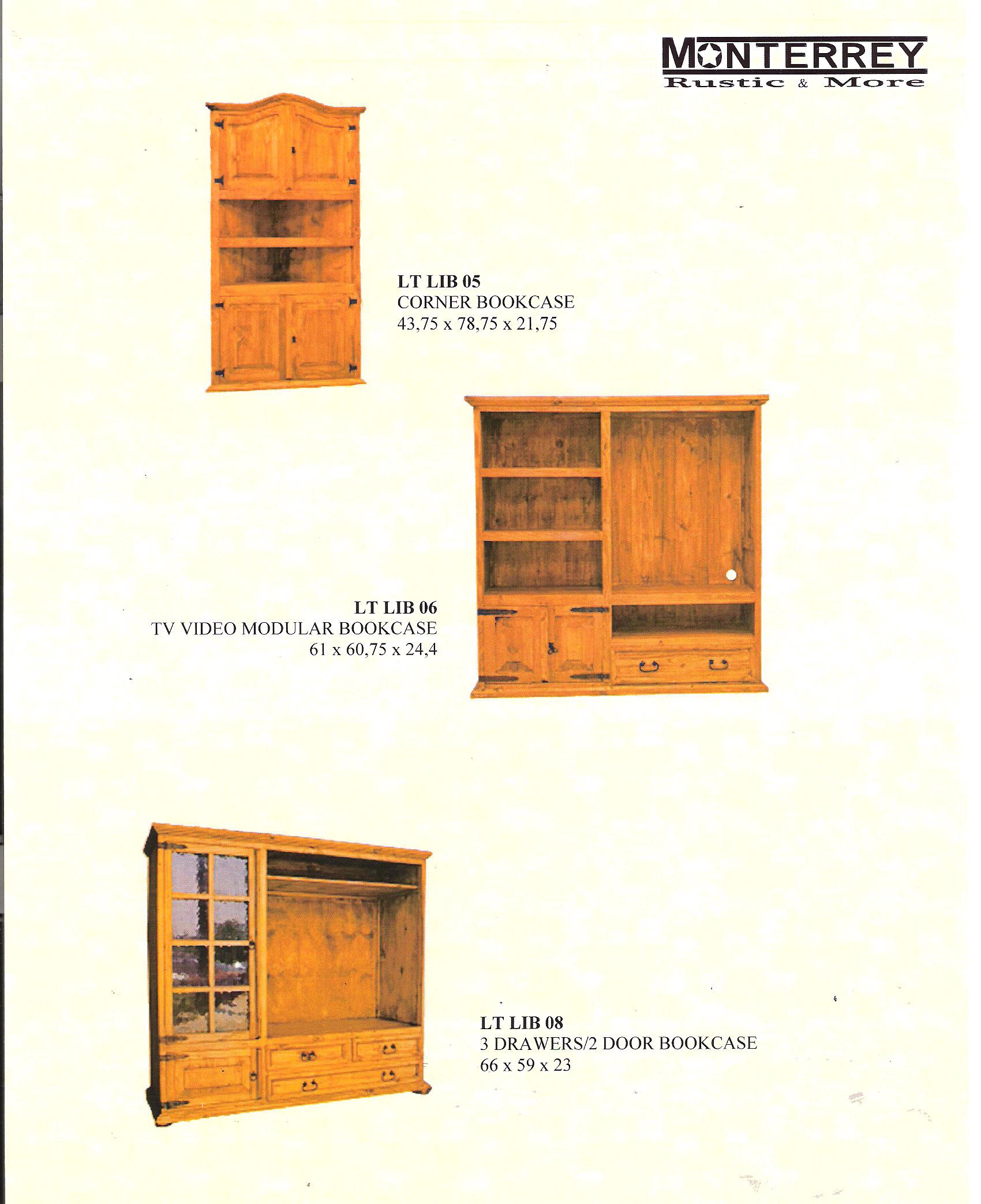 Tv Bookcases Monterrey Rustic Furniture