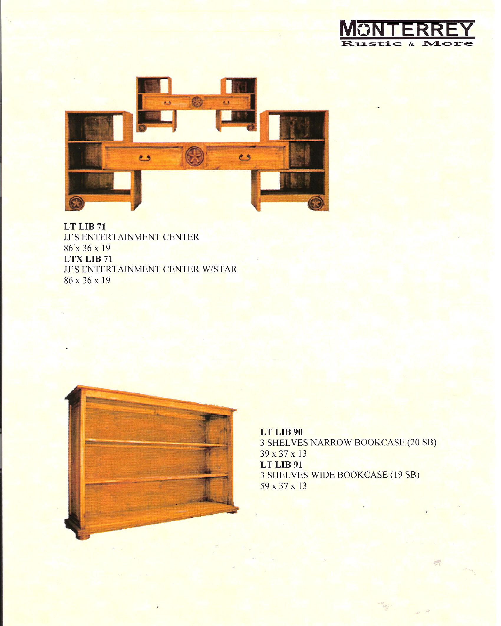 Entertainment Centers Bookcases Monterrey Rustic Furniture