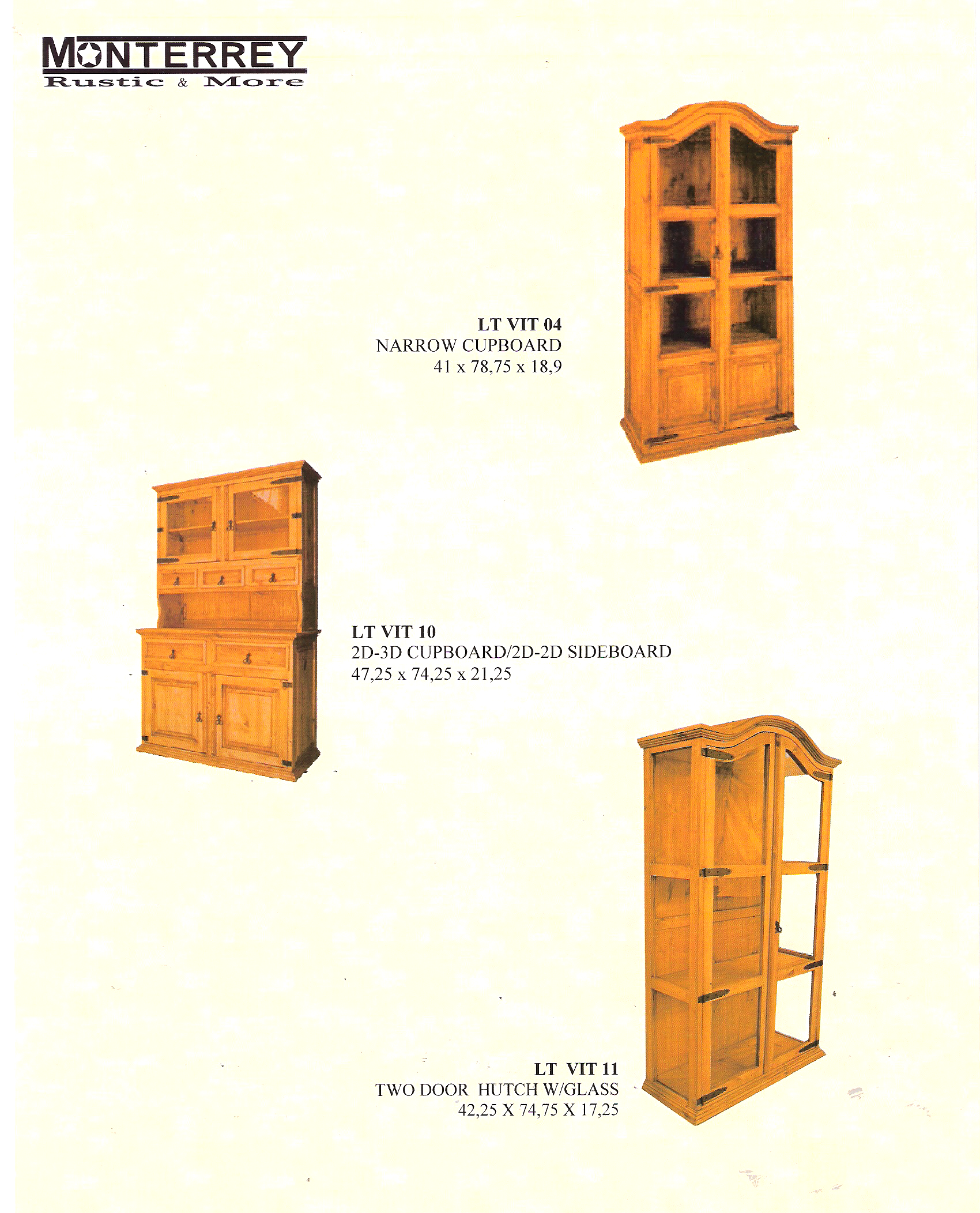 Dining Room Cabinets Monterrey Rustic Furniture