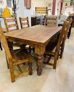 Reclaimed Wood 6FT Dining Set ...